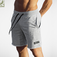SJ 2017 New Brand High Quality Comfortable Cotton Men Shorts Bodybuilding Fitness Workout Jogger Breathable Shorts