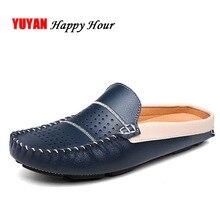 Genuine Leather Shoes Men Summer Brand Footwear Cowhide Mens Casual K280