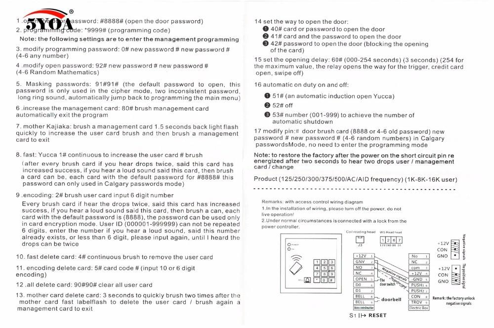 Access Control System RFID Card Keytab Proximity Door Lock Free Shipping 5YOA Brand New Machine Device Access Control System RFID Card Keytab Proximity Door Lock Free Shipping 5YOA Brand New Machine Device System