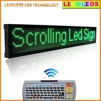 40x6.3 cm свет анимированные неоновая вывеска ИК Дистанционное управление Программируемый СВЕТОДИОДНЫЙ знак прокрутки зеленый сообщения нару