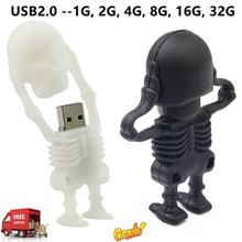 2018 New Cartoon Skull USB Flash Drives High Speed USB2.0 Storage Device Mini Pendrive Flash Memory Stick Halloween Gift