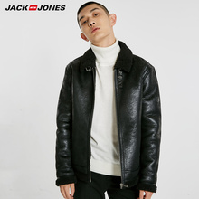 JackJones 2019 spring new business wild casual jacket leather jacket
