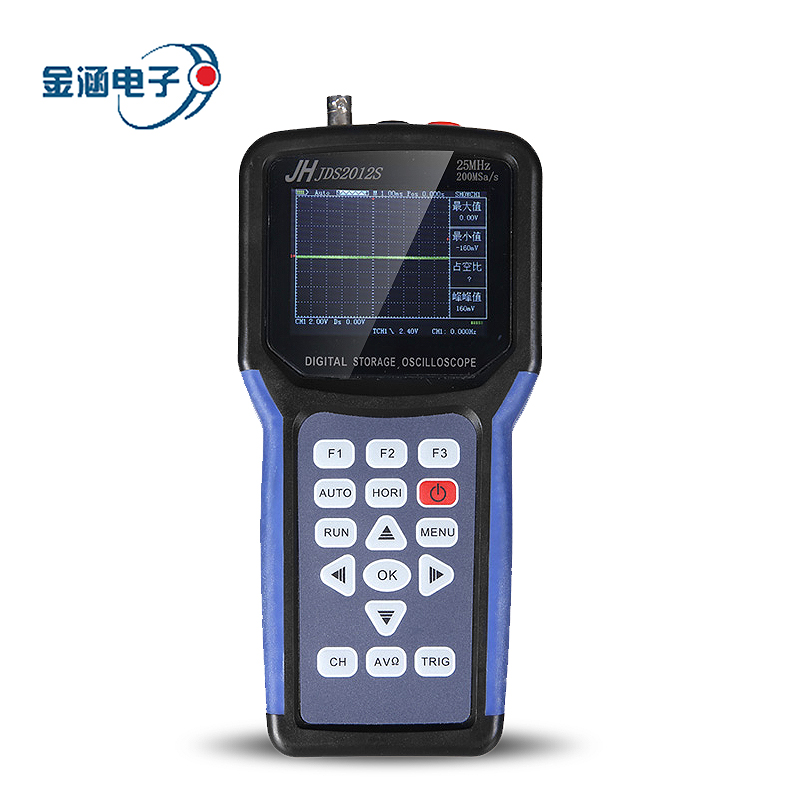 Jinhan Jds2012s Handheld Digital Storage Oscilloscope 1CH 25 mhz 200msa/s Scopemeter 4000 Comptage multimètre Numérique 3.2 pouces TFTLCD