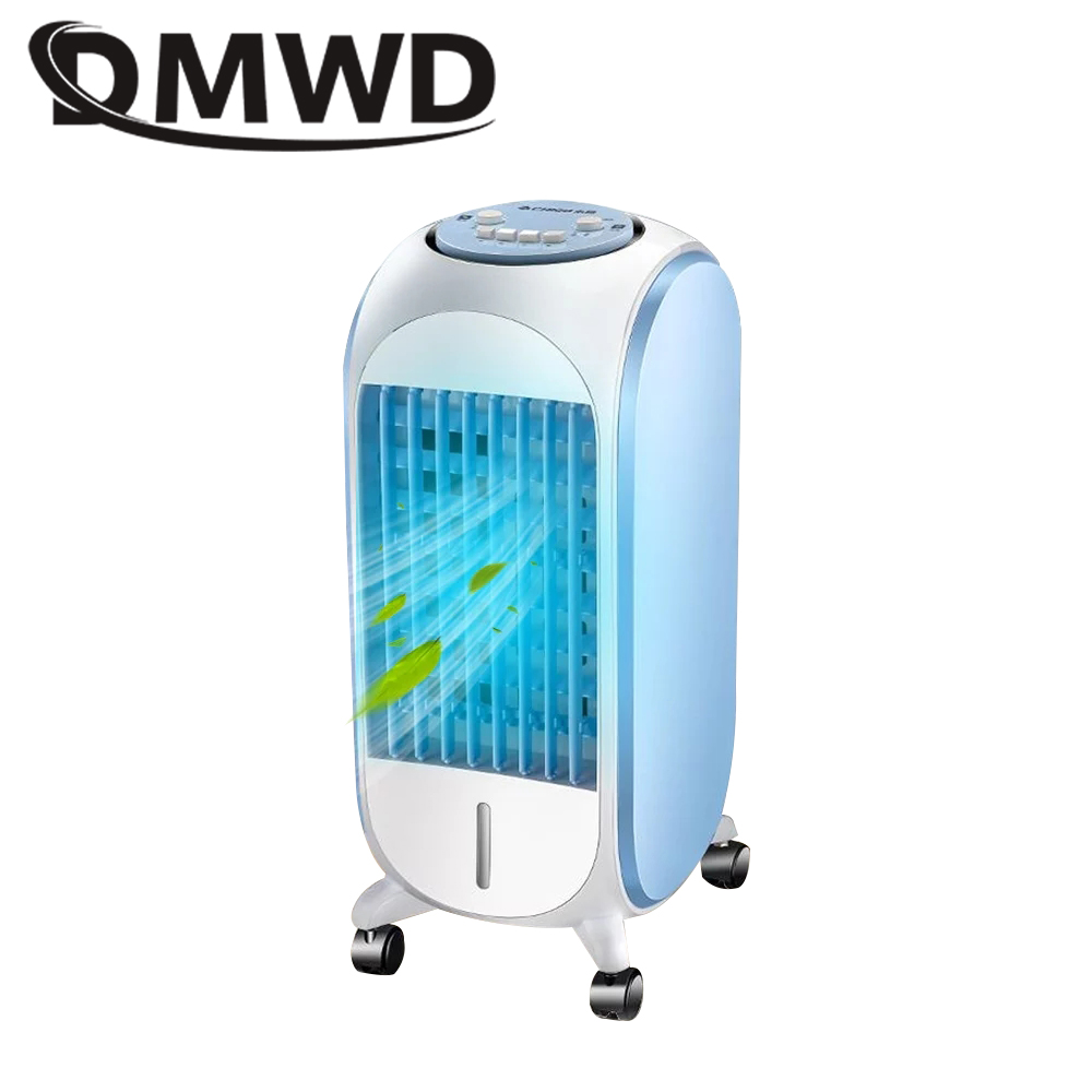 DMWD Water Cooled Conditioner Fan Portable Electric Air Cooling Fans Strong Wind Mini Humidifier Purifier Conditioning Cooler EU dmwd air conditioning fan water cooled chiller electric cooling fan remote timing cooler humidifier air conditioner fans eu us