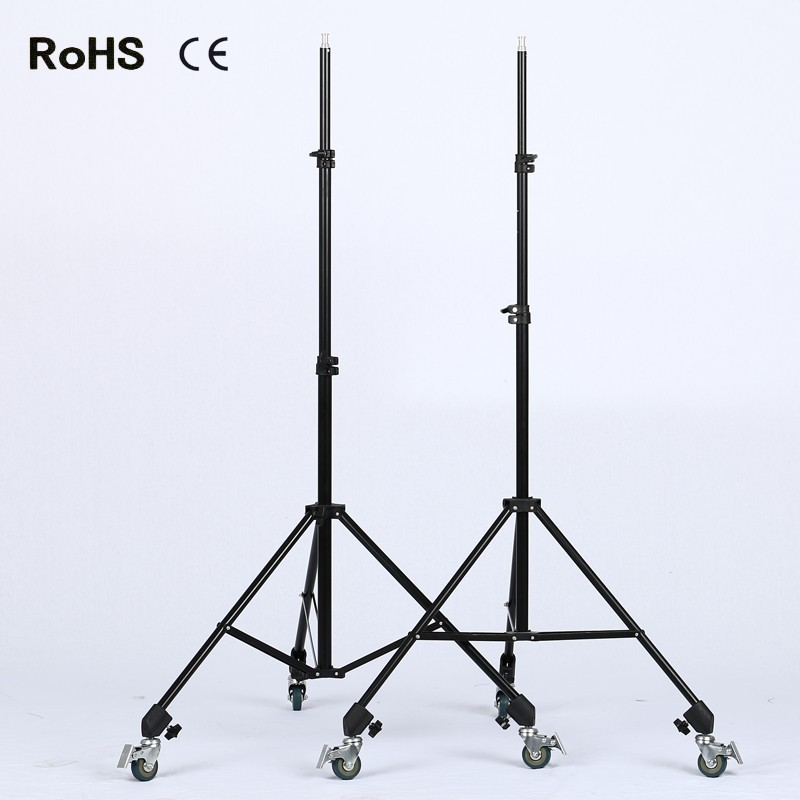 2*Professional Tripod Dolly for Camera Photo Video With 2.8m thicken light stand