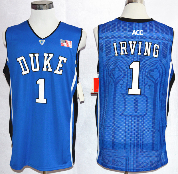 3d8476ff318 Cheap Free Shipping Customize Hot Sale College Basketball Jersey Duke Blue  Devils Kyrie Irving  1 Black White College Jersey -in Basketball Jerseys  from ...