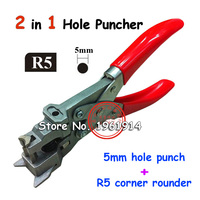 Manual R5 And 3x13MM Flat Hole ID Business Criedit PVC Paper Card Corner Rounder Punch Perforating