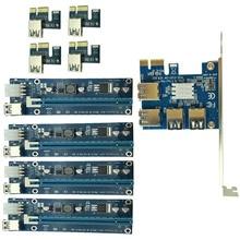 Caliente PCIe 1 a 4PCI Tarjeta Vertical 16X ranuras PCI-EXPRESS PCI-E 1X Externa 4 ranura PCI-e Adaptador PCIe Tarjeta Multiplicador de Puertos XXM8