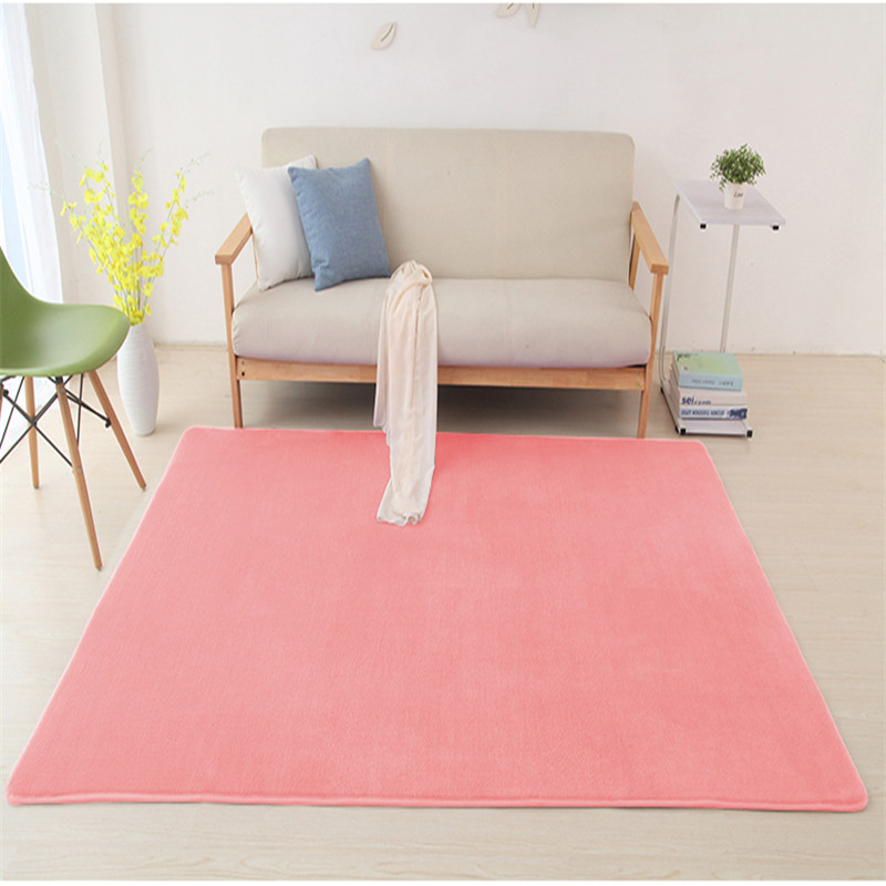 2019 New Thick Coral Fleece Rug Children Crawling Mat Fluff Blanket Living Room Coffee Table Bedroom Bedside Carpet Baby Cushion