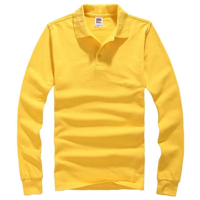 2016 Nuevo polo homme hombres de la camisa de polo de la Marca Europea de solapa de manga Larga de los hombres camisas de polo de Algodón del tamaño S-3XL envío gratis