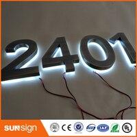 Высокое качество 3D магазин при фабрике открытый подсветка нержавеющей стали водить письмо знак