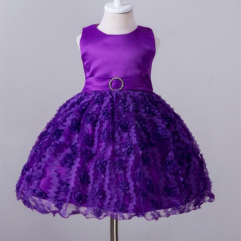Summer Baby Dresses Girls Flower Birthday Wedding Party Dress 2016 Girl Vestido aby Kids Clothing Lace Christening E607