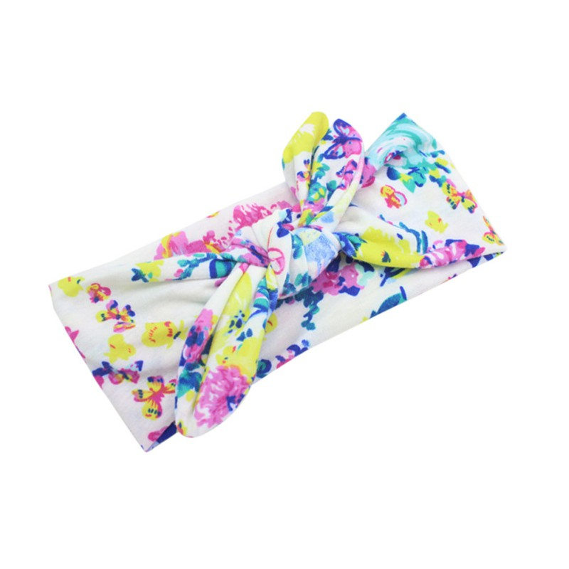 Baby Girls Headwear Head Wraps Floral Printing Turban Headband Newborn Infants Hair Accessories leaf print turban headband