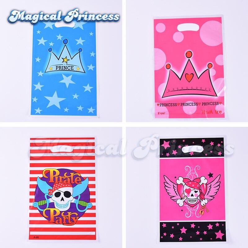 Принц Корона, корона принцессы, пиратский день рождения Лут сумки пластиковый мешок для подарков ...