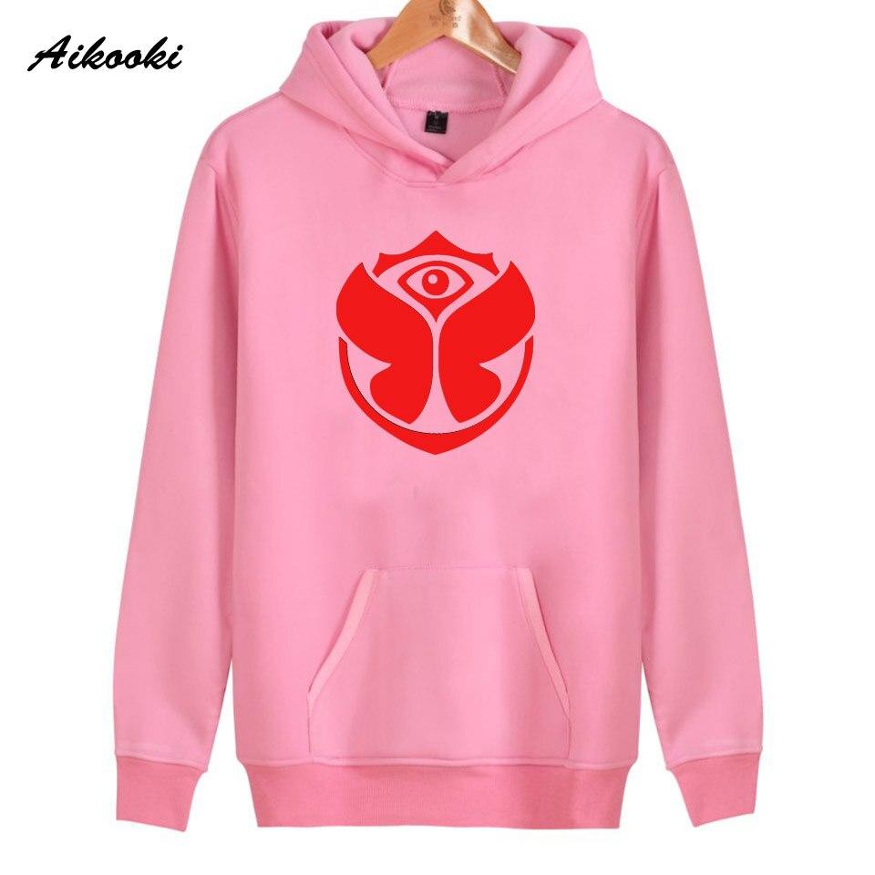 2018 Aikooki Tomorrowland Felsen Hoodies Frauen/männer Rosa Baumwolle Harajuku Frauen Hoodies Und Sweatshirt Tomorrowland Hoody Kleidung 100% Hochwertige Materialien