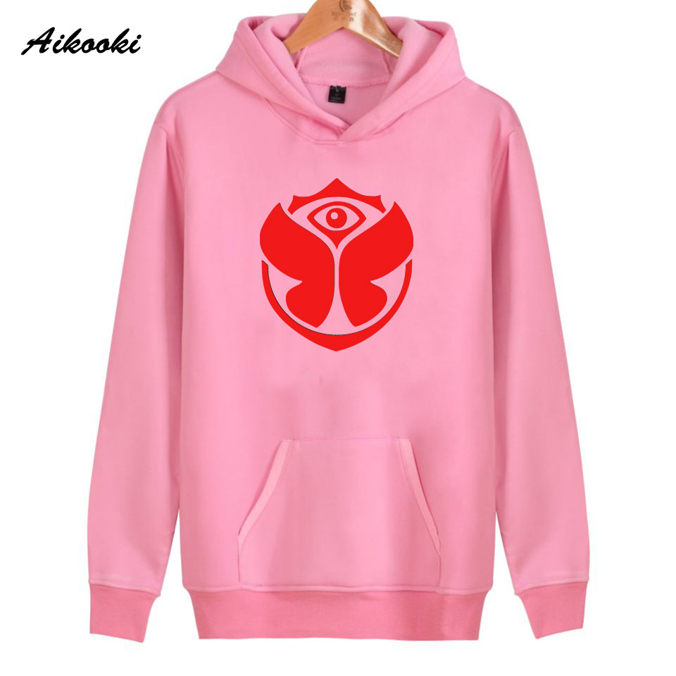 2018 Aikooki Tomorrowland rock Hoodies Women/Men Pink Cotton Harajuku Womens Hoodies and Sweatshirt Tomorrowland Hoody Clothes