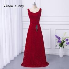 Vinca sunny Vestidos 2018 Beach Maid of Honor Burgundy Lace Bridesmaid Dress  Long Floor Length Bohemian Formal Sexy Party Gowns 5d4e93604ec8