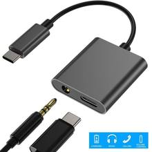2 in 1 Audio Charging Converter Type C to 3.5mm Earphone Jack  Adapter PD3.0 Fast Charging For Samsung  Huawei Xiaomi iPad Pro 1 24 schaal fast