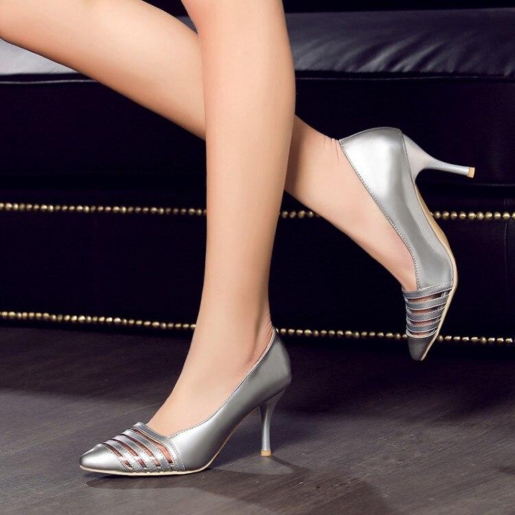 Women Pumps Hot Sale Medium(b,m) Sapato Feminino 2017 New Pumps High-heeled Shoes Heels Pointed Toe Women's Prom Size 34-45 8-1 2017 hot sale fashion new women shoes pointed toe transparent pvc party shoes women casual high heels pumps shoes 596