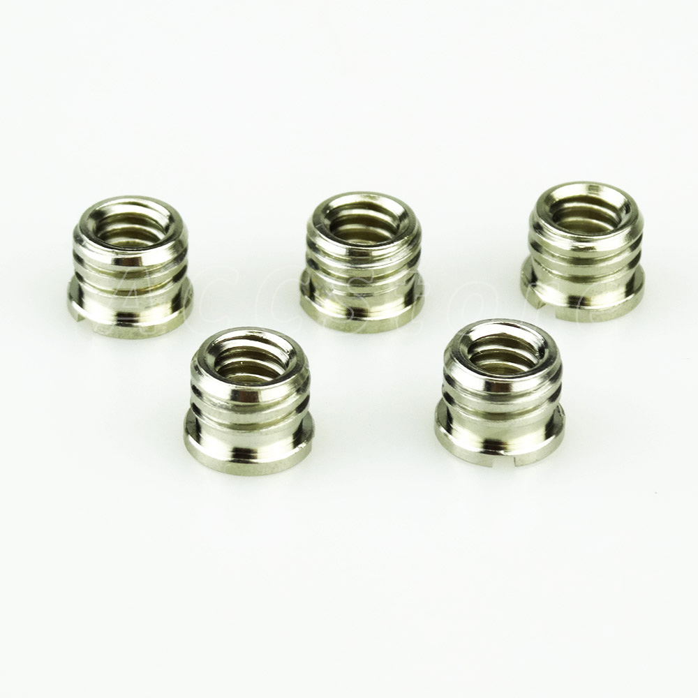5pcs 1/4 Female to 3/8 Male Convert Screw Adapter for DSLR Camera Tripod Monopod and Quick Release Plate - 712