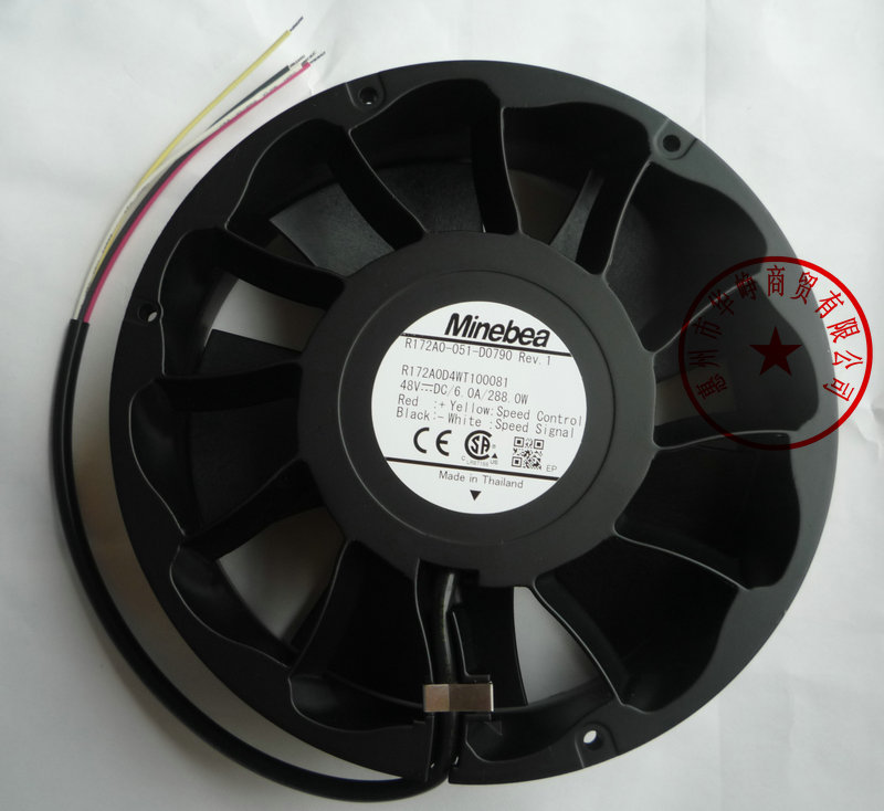 NMB 17.2CM R172A0-051-D0790 17251 48V 6A 4WIRE Cooling fan delta new efb1548vhg 17251 17cm 48v 0 83a circular drive cooling fan for 172 172 51mm