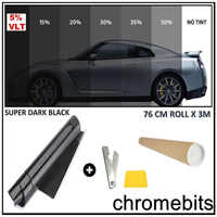 2Ply 5 VLT Dyed Window Tint Roll Kit Home Glass Film Car Auto Home Any Shade