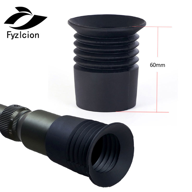 Tactical Rifle Scope Rubber Eye Protector 40mm Inner Diameter Recoil Eye Protector Cover For Hunting Scope Lens Cover