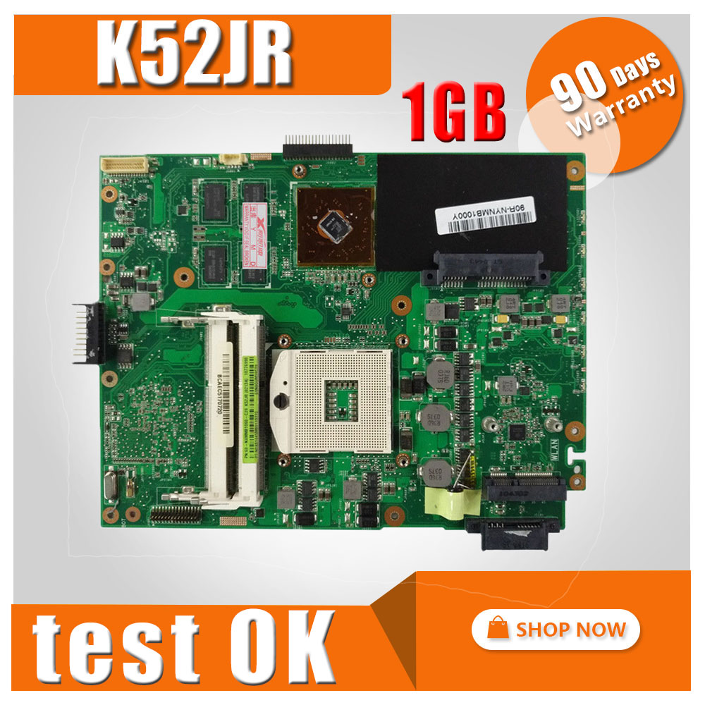 цена на K52JR Motherboard REV2.0 1GB HD5470 For ASUS A52J K52J K52JU Laptop motherboard K52JR Mainboard K52JR Motherboard test 100%