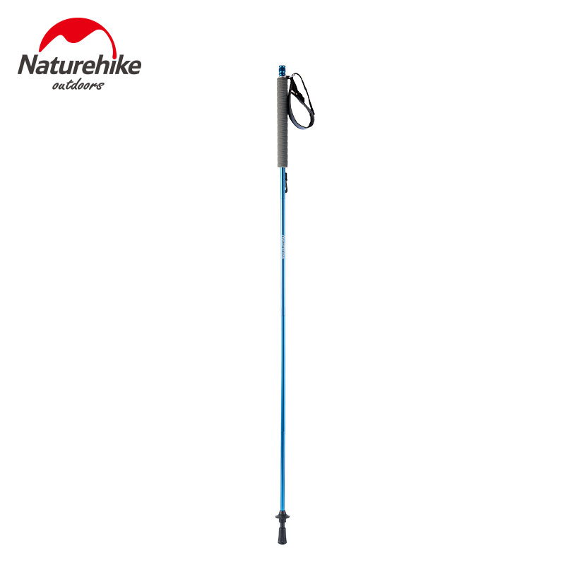 Naturehike New Floding Pole Trekking Hiking Walking Stick Cane Aluminum Alloy Adjustable Pole Self Outdoor 120CM Green Grey Blue бк 04 магнит божья коровка 35мм 780420