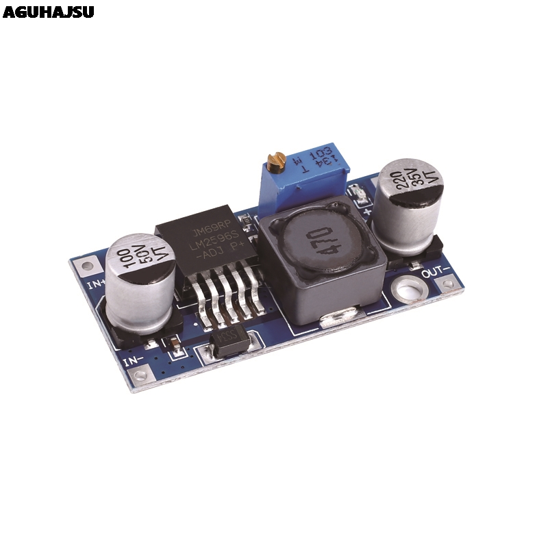 1PCS LM2596s DC-DC step-down power supply module 3A adjustable step-down module <font><b>LM2596</b></font> voltage regulator 24V <font><b>12V</b></font> 5V 3V image