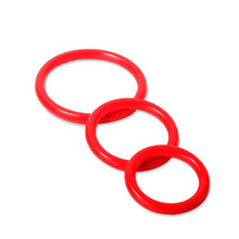Red silicone penis rings cock ring for men delay ejaculation 3pcs pack ring for penis sex toys adult sex products for dildos(China)