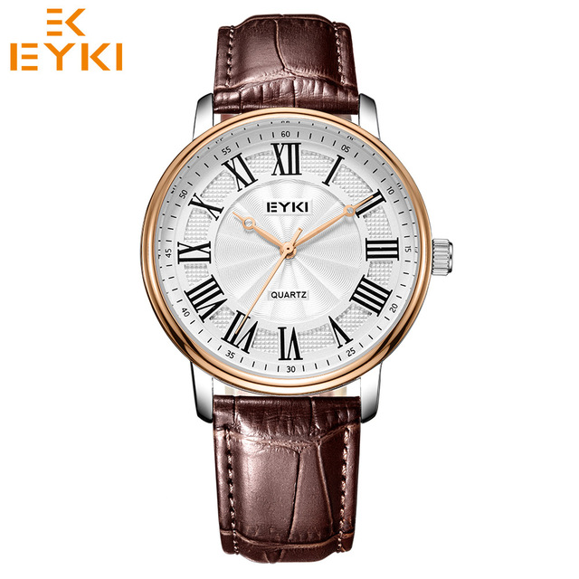 EYKI Luxury ultra thin men women watches male female Lovers' wristwatch waterpro