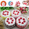 Lovely Too Strawberry Cake Squishy Slow Rising Toys Relieves Stress Anxiety Toy Trick For Child Adult