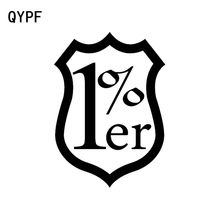 QYPF 11.5CM*16CM Fashion 1%ER One Percent Outlaw Biker Vinyl Decal Car Sticker Car-styling Accessories C15-2006(China)