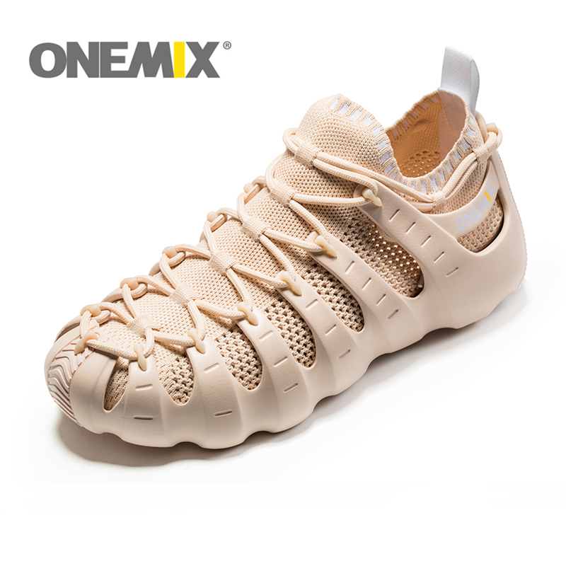 Genuine onemix Multi-function running shoes air mesh brathable knitting sneakers sandals slippers mode no glue compound shoes 2017brand sport mesh men running shoes athletic sneakers air breath increased within zapatillas deportivas trainers couple shoes