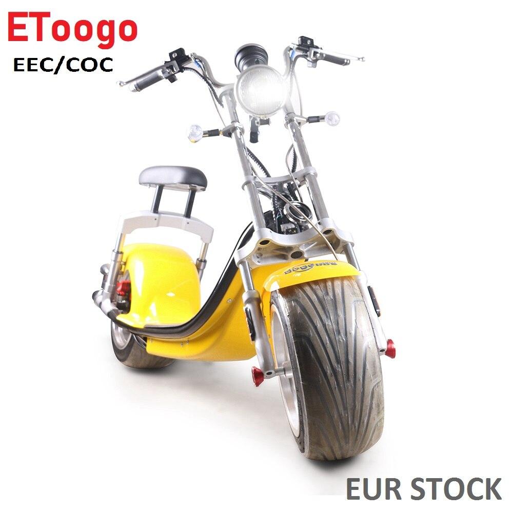 Europe Stock sc14 COC cee ville Coco batterie amovible Scooter 800 W Citycoco Scooter électrique Scooter électrique vélo