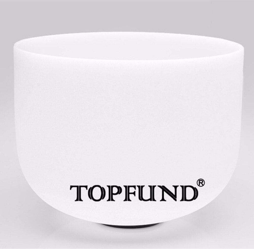 TOPFUND Chakra Frosted Quartz Crystal Singing Bowl 10