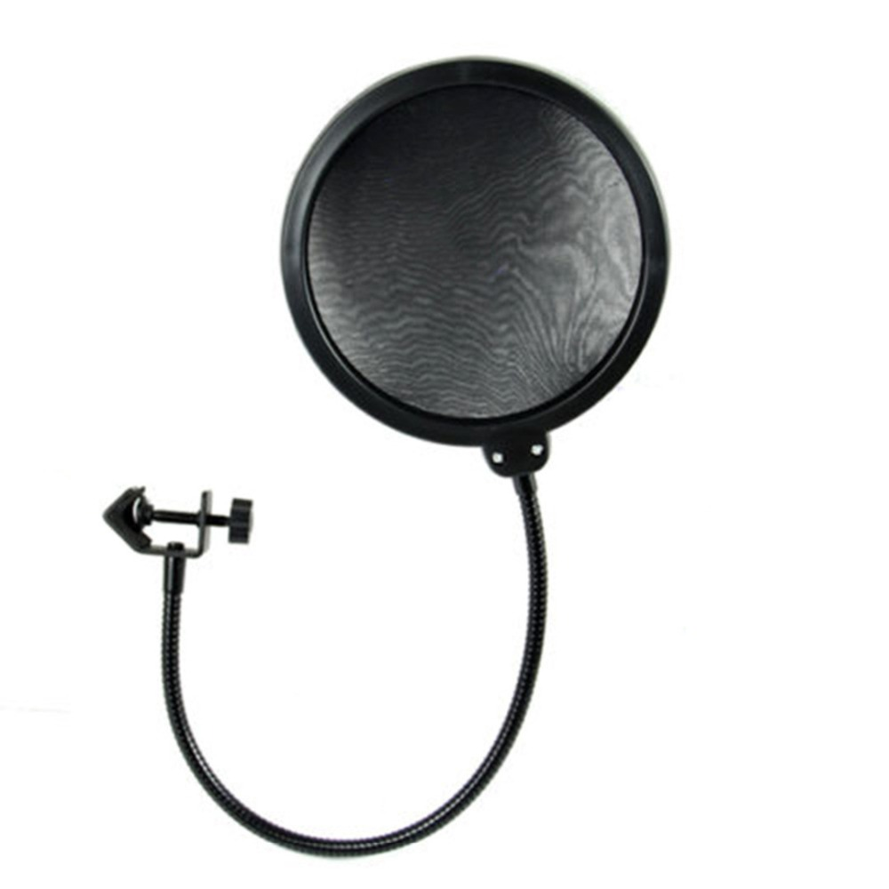 1pc recording studio microphone filters wind screen pop filter mask shield double layer for. Black Bedroom Furniture Sets. Home Design Ideas