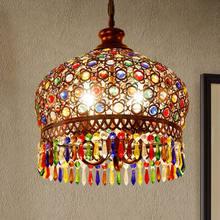 Tiffany – lampe suspendue style bohémien europe, luminaire décoratif d'intérieur, idéal pour une salle à manger ou une chambre à coucher