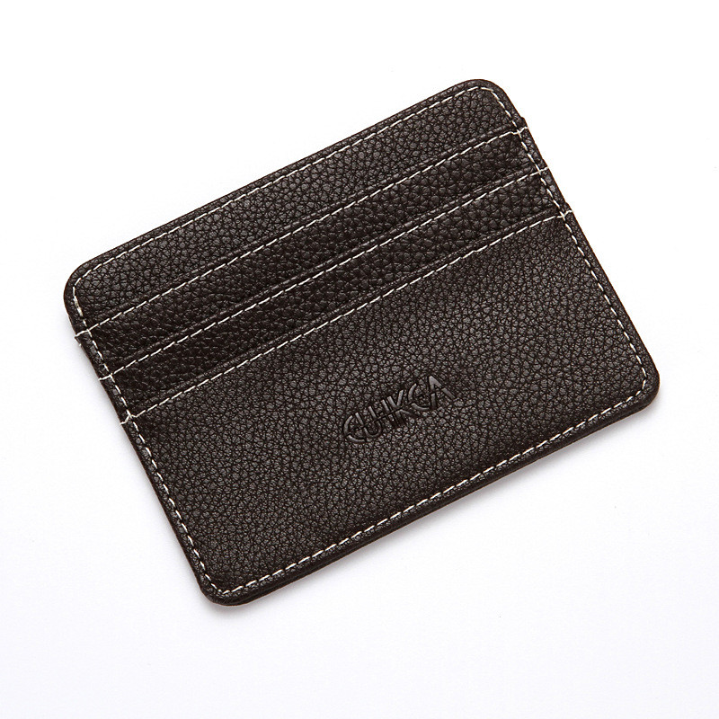 Hot Sale New Slim Credit Card Holder Mini Wallet Mens Simple Portable PU ID Case Purse Bag Pouch Vintage Cards Holders