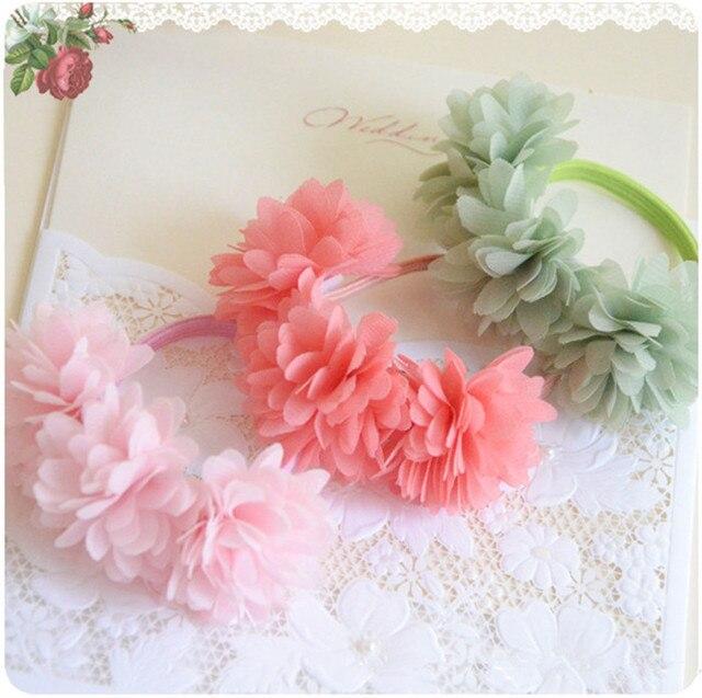 3 Pcs/lot Multi-layer Flower Elastic Hair Bands Girls' Hair Clips Kids Hair Accessories
