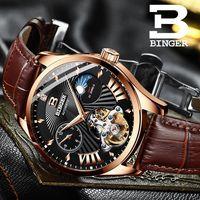 Switzerland Watch Men Binger Automatic Mechanical Men Watches Luxury Brand Sapphire GMT Men Wrist Watch Waterproof B 1186 10