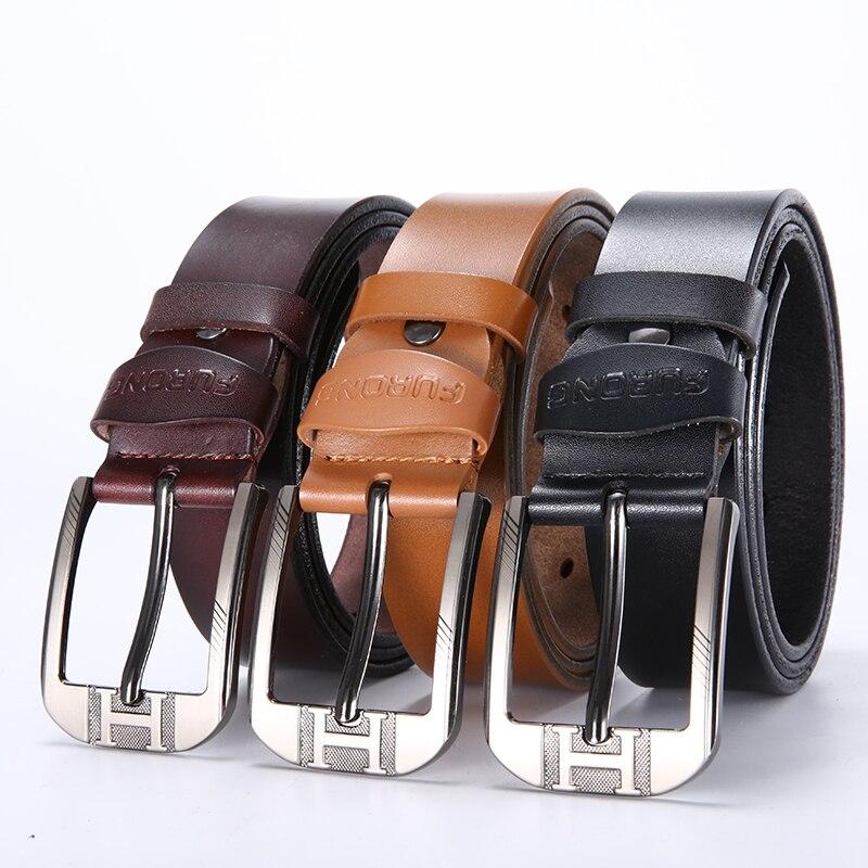 2019 Business Man   Belts   Fine Workmanship Leather New Fashion Classice Vintage Buckle Men   Belt   High Quality Luxury Male Big Siz