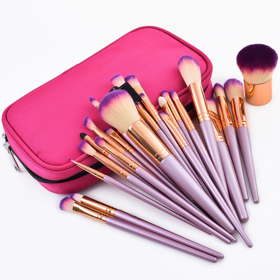 3c3220878048 US $7.99 29% OFF|JAF 26pcs Gold Makeup Brush Set with Zipper Case Travel  Cosmetic Bag Make Up Brushes Professional Studio Synthetic Quality Brush-in  ...