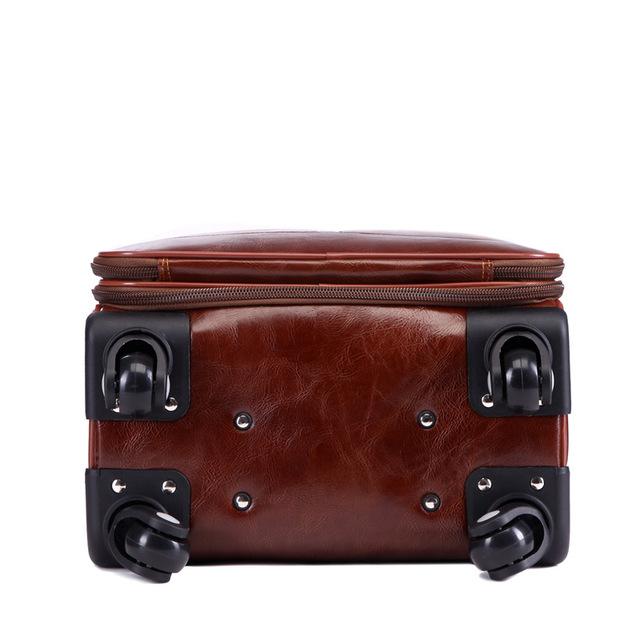 PU Leather Travel Suitcase