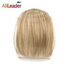 Alileader False Hair Bangs Clip In Hair Piece Fringe Extensions 2.99Usd/Pcs Free Shipping Synthetic 613# Fringe Clip Bangs