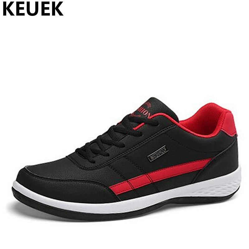 Fashion Men Sneakers High-top shoes Breathable Leather Casual shoes Male Flats Lace-Up Loafers Youth popular shoes 01B spring autumn fashion men high top shoes genuine leather breathable casual shoes male loafers youth sneakers flats 3a