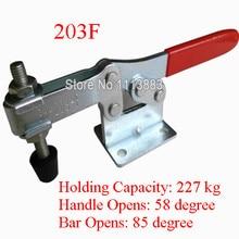 3PCS 227KG 500LBS U Bar Flanged Base Hand Tools Horizontal Toggle Clamp 203F replacing red long handle u bar 500lbs horizontal toggle clamp 203p
