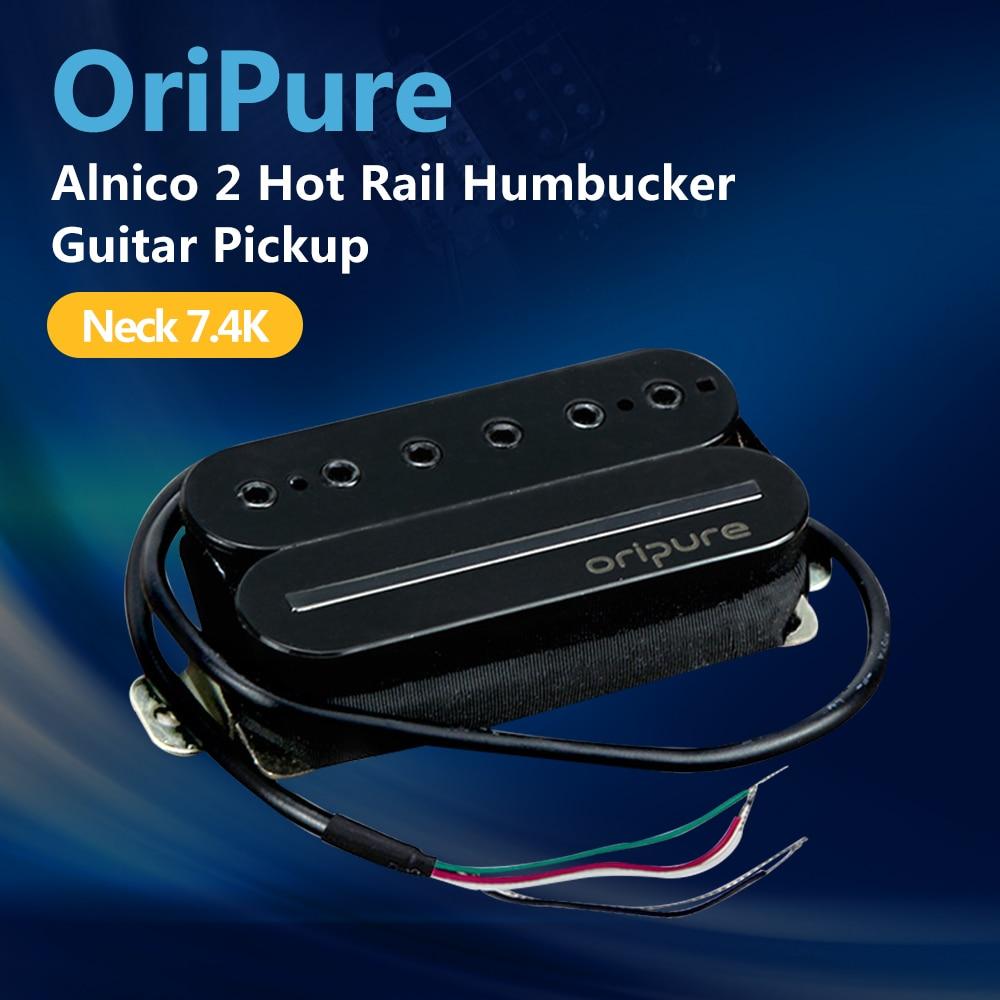 OriPure Alnico 2 Rail Humbucker Pickup Neck Guitar Pole Piece Coil Hot Rail Blade Pickup Guitar