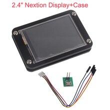 """2.4 polegada 2.4 """"nextion display aprimorado uart hmi touch display módulo de tela lcd + acrílico preto caso para arduino raspberry pi gpio"""